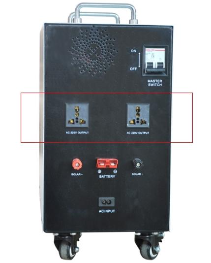 solar generator 600 w back