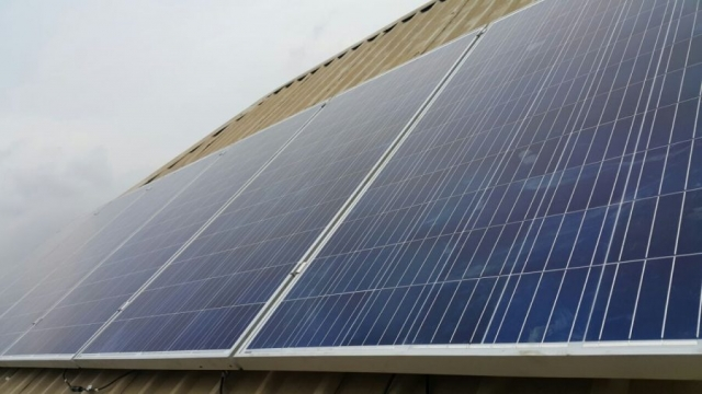Panels are on the roof