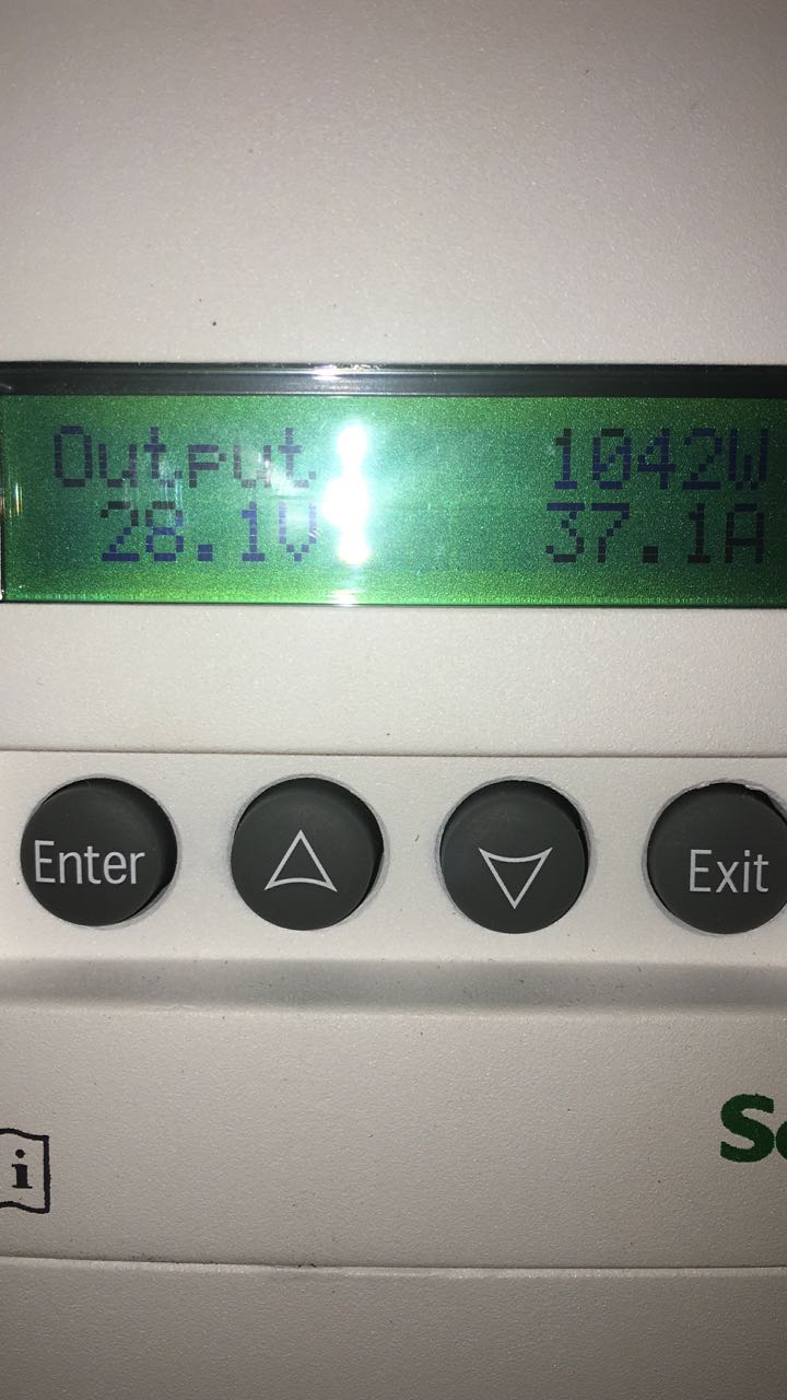 I love solar in the Morning. Schneider Electric Conext MPPT