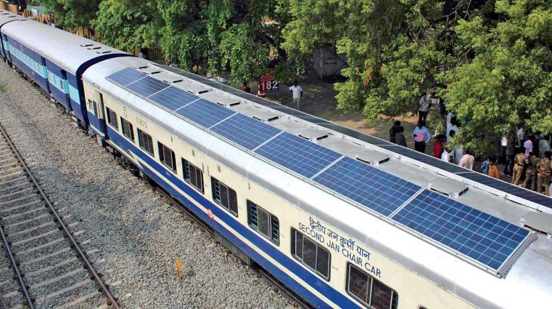 Solar-Powered Trains