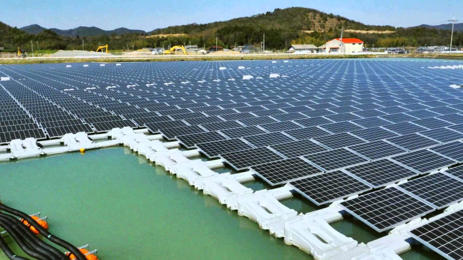 Floating solar power